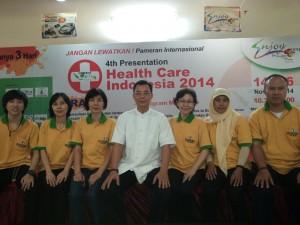 決心為空間醫學在印尼的傳播而奮鬥的團隊